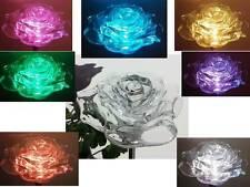 NEW SOLAR ROSE FLOWER GARDEN LAWN STAKE LAMP YARD DECOR COLOR CHANGE LED LIGHT