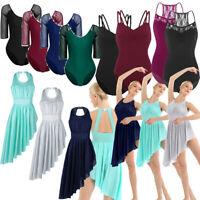 Women Gymnastics Contemporary Ballet Skirt Leotard Yoga Dress Dance Wear Costume