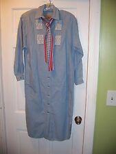 Liz Claiborne Country Jean Dress Size 4 Long Sleeve Shirt Dress 100% Cotton