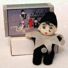 Vintage 1970's Tristo Pierrot Matchbox Beanie Doll with Box Clown Mime fristo