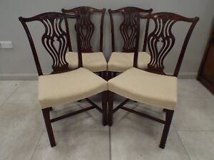 Set of Four Antique George III Style Mahogany  Dining Chairs Excellent Condition