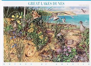 GREAT LAKES DUNES STAMP SHEET -- USA #4352 42 CENT 2008 NATURE OF AMERICA