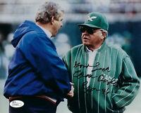 EAGLES Buddy Ryan signed photo 8x10 JSA COA AUTO Autographed Chicago Bears 46