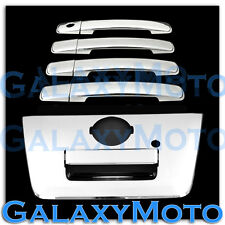 Chrome 4 Door Handle W/O PSG Keyhol+FUL Tailgate Cover for 04-12 Nissan Frontier
