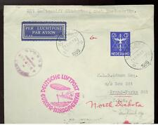 1936 Netherlands Hindenberg Zeppelin Cover to USA