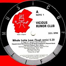 "12"" - Vicious Rumor Club - Whole Lotta Love (RAP) NUEVO - NEW, STOCK STORE"