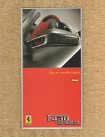 Ferrari F430 Spider - RARE Owners Handbook Supplement - 2005 - Spanish Text