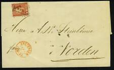 "NETHERLANDS 1868 10c TIED RECTANGULAR ""FRANCO"" CANCEL"