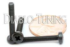 M3 x 20mm - Qty 10 - Phillips Pan Head Machine Screws - DIN 7985 A - Black Steel
