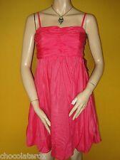 Asos ~ Coral Pink Silk Blend Party Dress ~ Detachable Straps ~ Size 10  BNWT New