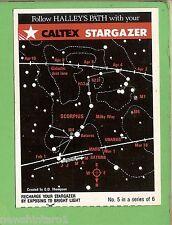 #D176.  1986  CALTEX STARGAZER HALLEY'S COMET CARD #5 of 6