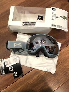 NEW Anon Tempest Ski Snow Goggles slate W/ Sonar Silver lens