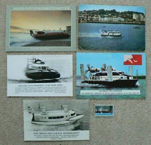 5 Hovercraft Postcards + a Mint Pre Decimal Stamp