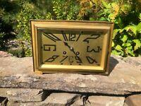 Antique French Gilt Bronze Deco Style Mantle Clock Armand Albert Nantes