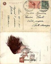 REGNO - 5c(81)+5c Chiudilettera usato per tariffa-Cartolina Roma 20.6.1915
