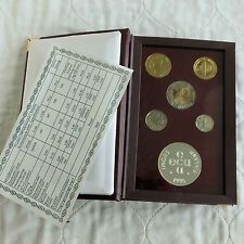 More details for finland 1995 5 coin proof year set with silver mint medal - sealed pack/coa