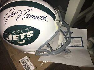 Joe Namath HOF New York Jets Signed Full Size Authentic Throwback Helmet Steiner