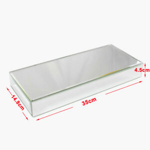 1/2pc Furniture Mirrored Bevelled Floating Shelf Wall Storage Glass Display Unit