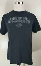 Harley Davidson shiny side up rubber side down tshirt Lake Erie, Avon OH size XL