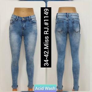Women MISS RJ French brand High Waist Stretchable Skinny denim ladies jeans.