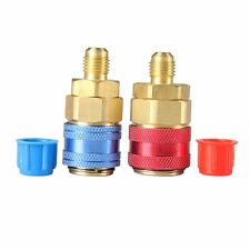 """R134a Refrigeration Tank Quick Couplers/Connectors/Adapters 1/4"""" SAE HVAC Tool"""