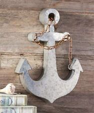"""17.8""""   Metal Anchor Design Wall Decor with Chain Link Embellishment"""