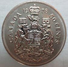 1978 CANADA 50¢ HALF DOLLAR COIN BRILLIANT UNCIRCULATED