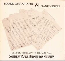 Sotheby Los Angeles - Books, Autographs & Manuscripts February 17, 1974