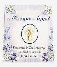 "MESSAGE ANGEL - SWAROVSKI CRYSTAL PIN / BROOCH - ""FIND PEACE IN GOD'S PRESENCE"""