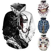 Halloween Damen Herren 3D Horror Grafik Kapuzenpullover Winter Hoodie Pulli Tops