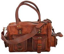 Women's New Handmade Natural Tan Pure Goat Leather Vintage Messenger Bag Purse