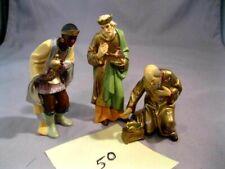 """3 Vintage Anri Resin Figures 5"""" 3 Wisemen Signed Mint"""