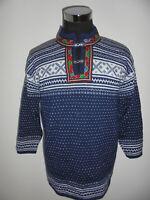 Norweger Strickjacke Amico Sportswear Strickjacke Wolle vintage Hippie blau XL