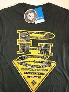 Columbia New PHG Realtree Hunting Rain Short Sleeve Graphic T-Shirt Mens Medium