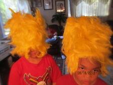 Cartoon Adult / child Bart Simpson YELLOW HAIR WIG halloween costume LOT OF 2