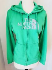 The North Face Green Womens Hoodie Sweater Full Zip Medium