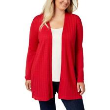 New Karen Scott Womens Duster Casual Cardigan Sweater Top Plus 0X, 1X, 2X