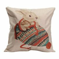 Animal World Home Decor Linen Pillow Case Bed Sofa Car Back Throw Cushion C F5I2