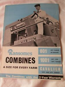 """@Ransomes Combines Brochure """"A Size For Every Farm"""" 801 1001 Cavalier@"""