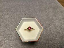Vintage Estate Round Ruby Ring, 14Kt Size 6