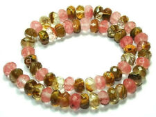 """5X8mm Faceted Watermelon Tourmaline Gems Loose Beads 15"""" AAA+"""