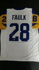 Marshall Faulk Autographed St. Louis Rams Custom Jersey (Beckett Witnessed COA)