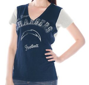 """San Diego Chargers Women's G-III NFL """"Fair Catch"""" V-neck T-shirt"""