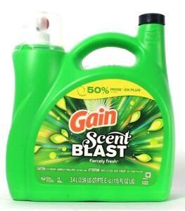 1 Ct Gain 115 Oz Scent Blast Fiercely Fresh 74 Loads Liquid Laundry Detergent