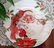 "Set 6 Ashland Christmas Decorative Santa 13"" Charger Plates - Durable Plastic"