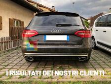 DIFFUSORE IN ABS RS4 SOTTO PARAURTI AUDI A4 B8 8K 2008-2012 DOPPIO SCARICO