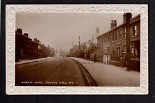 Lostock Hall, near Bamber Bridge & Preston - Watkin Lane - real photographic p/c