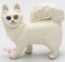 Porcelain Figurine of Turkish Angora Cat Kitty Kitten