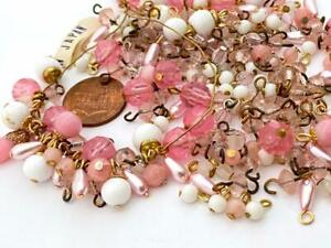 Vintage Pinks Amethyst White Beads Charms with Loop Mix Japan 100