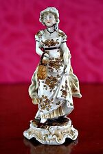 Antique German Dresden Porcelain Lady Figurine